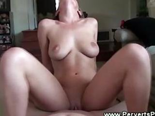 Horny Blonde Loves Fucking On Top