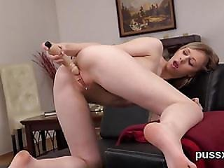 European Chick Enjoys Bizzare Toy And Rams In Big Dong In Pussy