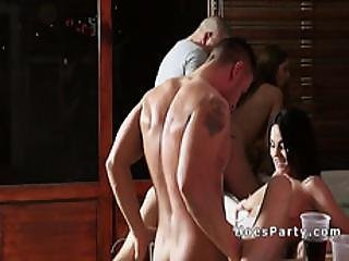 Euro Amateur Babes Partying By Jacuzzi