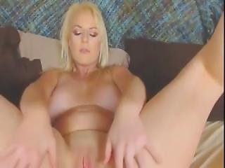 Chatroulette Reaction Pretty Blonde Shows Cleavage And Strips For A Good Fi