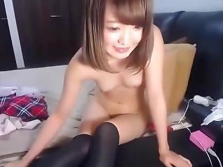Japonese, Masturbación, Adolescente, Camara Del Internet
