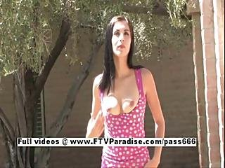 Tera Nice Lovely Babe Public Flashing