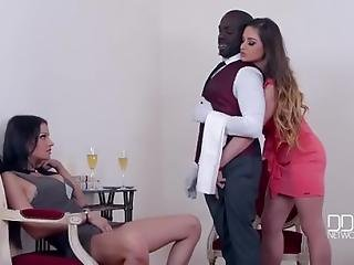 Big Black Cock For 2 Nympho Housewives