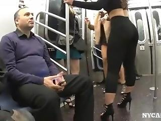 Candid Huge Ass In Black Leggings And Heels On Subway (sorry If Repost)