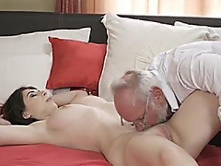 Busty 19yo Russian Sheril Blossom Suck Off And Rides Grandpa