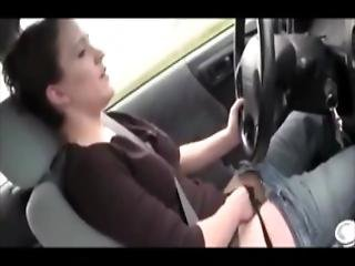 Rubbing Her Pussy While Driving Home For The Boyfriend