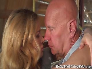 Spicy Young Hottie Fucked And Fed With Cum By Senior