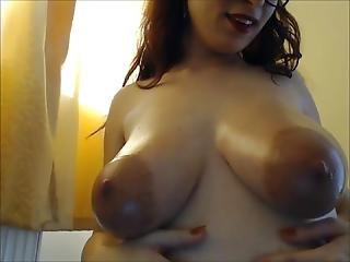 Pregnant Julia Oiled Big Areolas