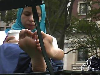 Muslim Arab Hijab Girl Hot Candid Feet