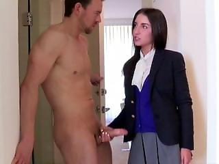 School Girl Jerking Off Guy