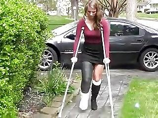 Maura Crutches Around