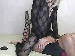 Ladyman Anal Copulates Her Lady Ally