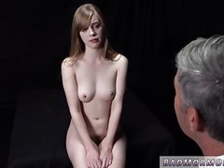 Two Teens Dancing Naked And Big Dick Stretches Pussy