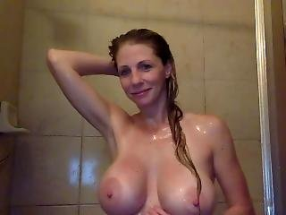 1 Hour Shower Masturbation And Tits Squeezing Show