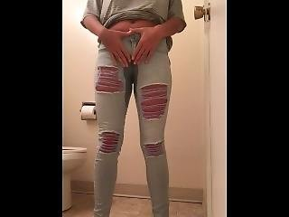 Desperate Teen Pees In Her Jeans And Likes It