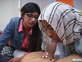 Mia Khalifa Teaches Young Muslim To Suck Cock
