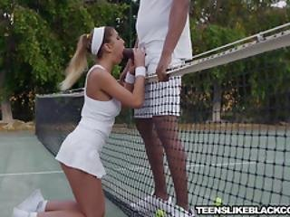 Brunette August Ames Hammered And Riding Big Black Cock