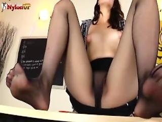 Teacher Liz Rainbow In Pantyhose Forces You To Cum For Her