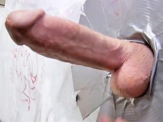 Monicka Jaymes Sucks Big White Gloryhole Cock