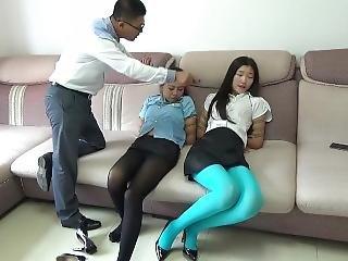 Chinese Police Pantyhose Bondage
