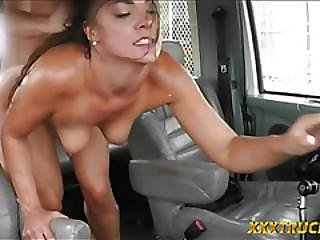 Slut Gives Bj And Gets Pussy Fucked By Tow Truck Driver