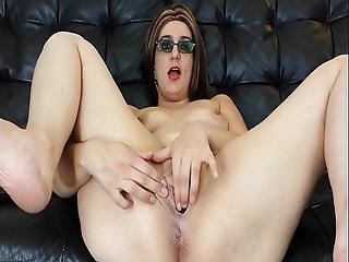 ametérské, prstění, brýle, masturbace, milf, orgasmus, kalhotky, kunda, děvka, vibrátor