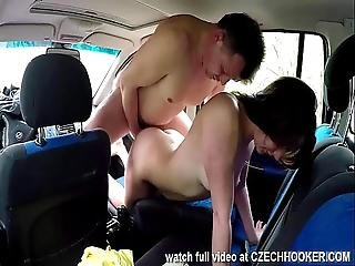 Eastern Bitch Fucks Outdoor For Money