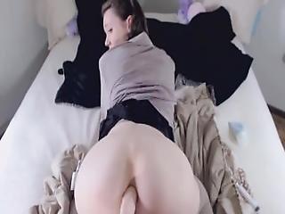 Adorable Teen Pretends Her Dad Fucks Her Ass%21   3 Creampies%21