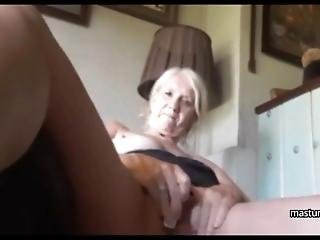 Grandma Kelly Masturbates As If She Is 18