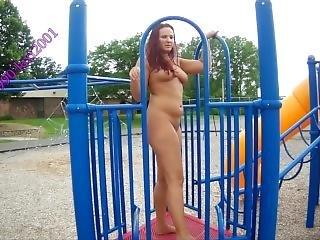 amatör, naken, park, offentligt
