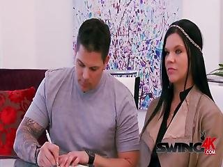 Couple Decides To Sign Contract And Check Out The Sexy Premises