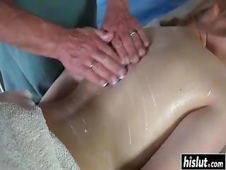 Sweet Emily Gets Her Cunt Massaged