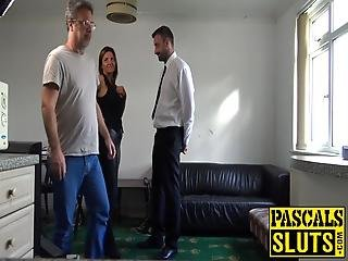 Pascal Loves It When A True Bombshell Like Sienna Hudson Comes By For Her Treatment Sight Of Big Dick Really Gets Them Going!