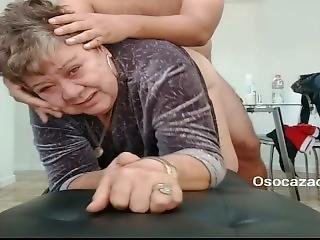 Grandma Luisa 80yo Fucking With Her Stepson. Orgasm Face Bbw