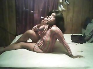 Amadores, Preta, Cigarro, ébano, Sexy, Fumar