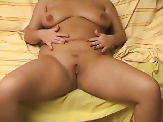 Curly Haired Fat Chubby Gf Loves To Masturbate