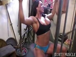 Rica Female Bodybuilder Gym Workout