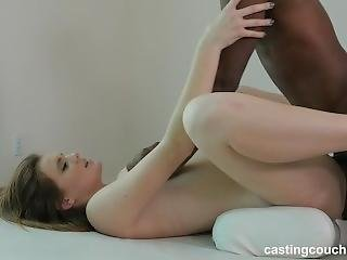Stacy Taking The Black Cock To Get Into Rap Video At Casting