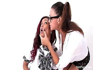 Classroom Lesbians With Skin Diamond And Alison Tyler