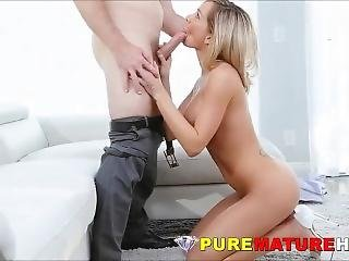 Gorgeous Big Boobs Milf Cougar Sexually Uses Younger Guy