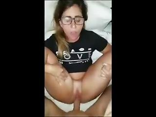 Nerdy Teen In Glasses Gets Her Wet Pussy Fucked