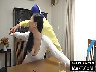 Japanese Milf And Stepson