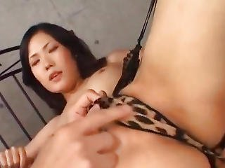 Yui Komine Has Aroused Cunt And Mouth Filled With Cocks And Cum