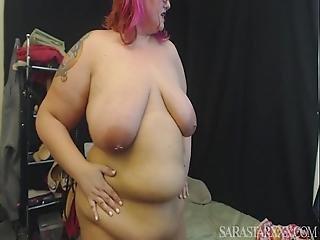Slutty Bbw Sara Star Takes Dirty And Masturbates On Webcam