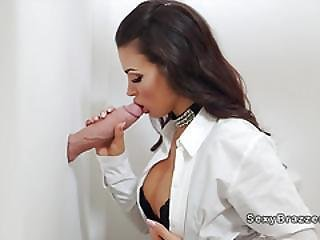 Hot Boss Sucks Monster Cock Gloryhole
