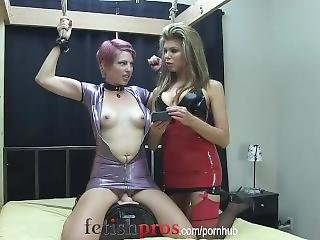 Kay Sybian Bound In Latex