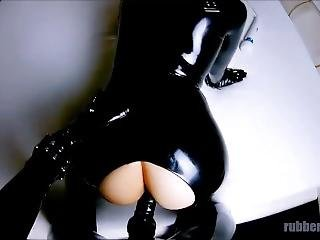 Gas Mask Fucking In Black Latex Catsuits - Trailer