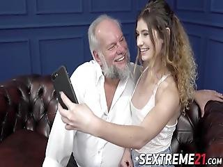 Teenage Lady Candice Demelzza Gets A Mouthful Of Cum From Grandpa Albert! His Old Dick Is Still Strong Enough To Satisfy A Teeny!