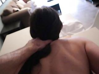 Stepsister Surprised And Used In The Kitchen For Rough Sex!