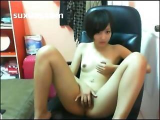 Cute Asian Girl Masturbating Fingering Her Tight Pusssy